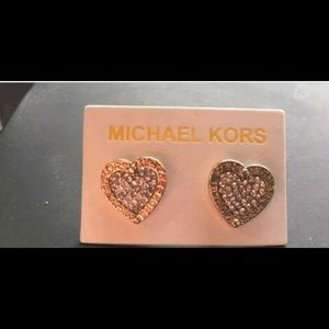 Authentic Michael Kors earring rose gold